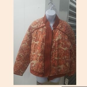 Free People Quilted Cotton Reversible Jacket. Sz.M